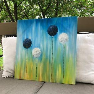 🖼 Floral Canvas Art Frame